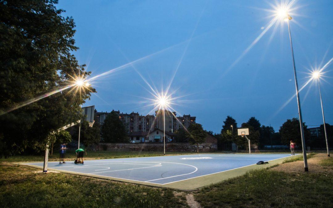Campo da Basket in Resina Acrilica – Comune di Nichelino