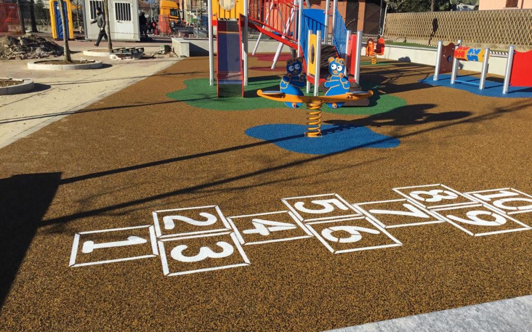 Area gioco in Gomma Antitrauma – Comune di Vinovo