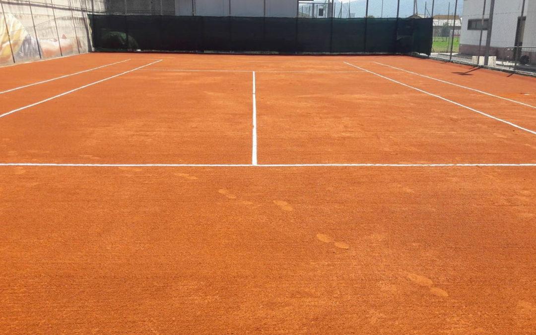 Campo Tennis in Terra Rossa Sintetica – Comune di Bruzolo